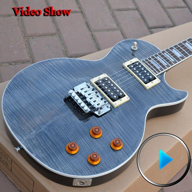 Custom Shop  Custom Axcess black tiger pattern Top Floyd Rose instrumentos musicales high quality complete china electric guitar