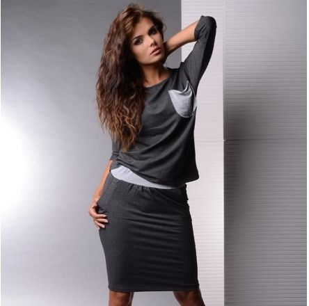 The fashion leisure suit female knit two-piece outfit  Fashionable and comfortable dress skirt
