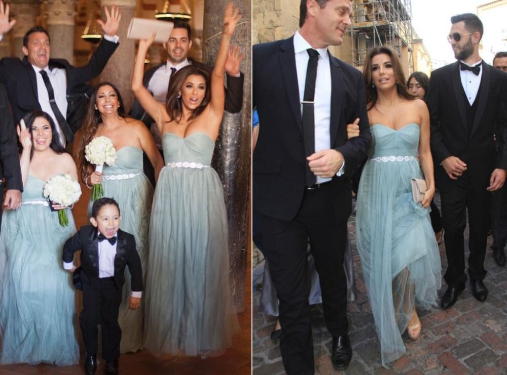 2017 Long Tulle Dusty Blue Bridesmaid Dresses with Crystal Beaded Sash Sweetheart Floor Length Wedding Party Dresses Plus Size