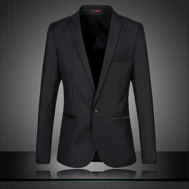 One Button Slim Fit Blazer Men For Plus Size 6XL 5XL 4XL-M 5 Black Man Spring 2015 Terno Masculino Men's Suit Jackets Casual