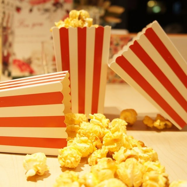 7*5*11.5cm 24 pcs red Column Bar mini Popcorn bucket paper Boxes Bags Kids Party Treat Boxes Wedding Birthday Decorations