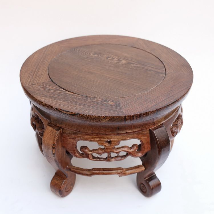 Red wood real wood household act the role is tasted handicraft furnishing articles vase aquarium circular base