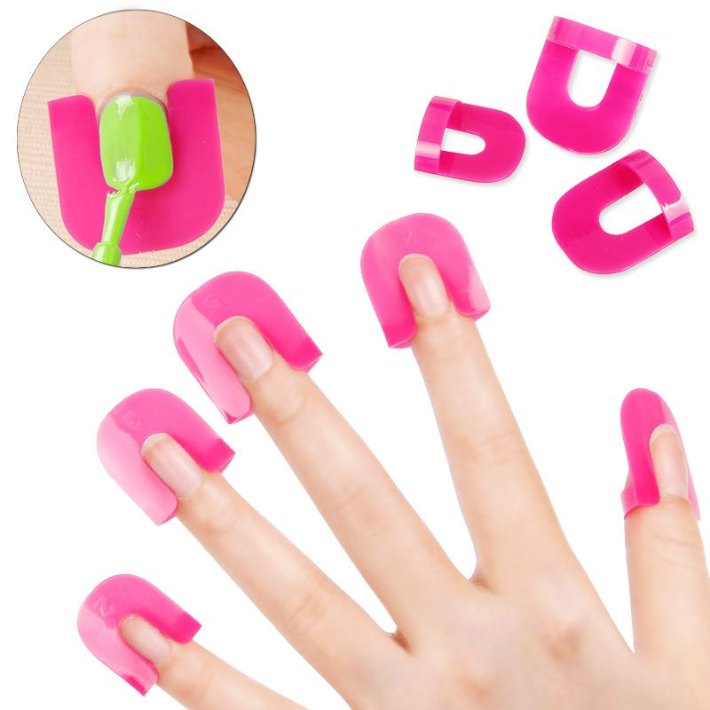 26 Pcs/lot Nail Polish Edge Anti-Flooding Plastic Template Clip Manicure Tools Set