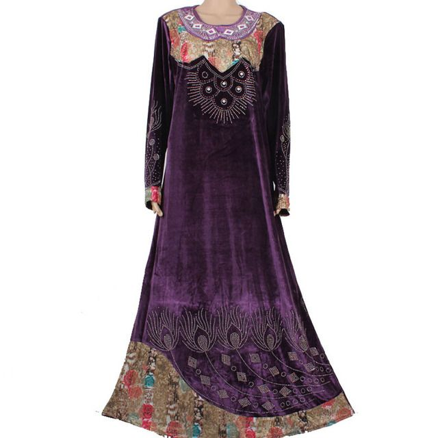 New Islamic clothing for women  wholesale plus size muslim dress abaya in dubai kaftan maxi muslim Abaya 95C8006
