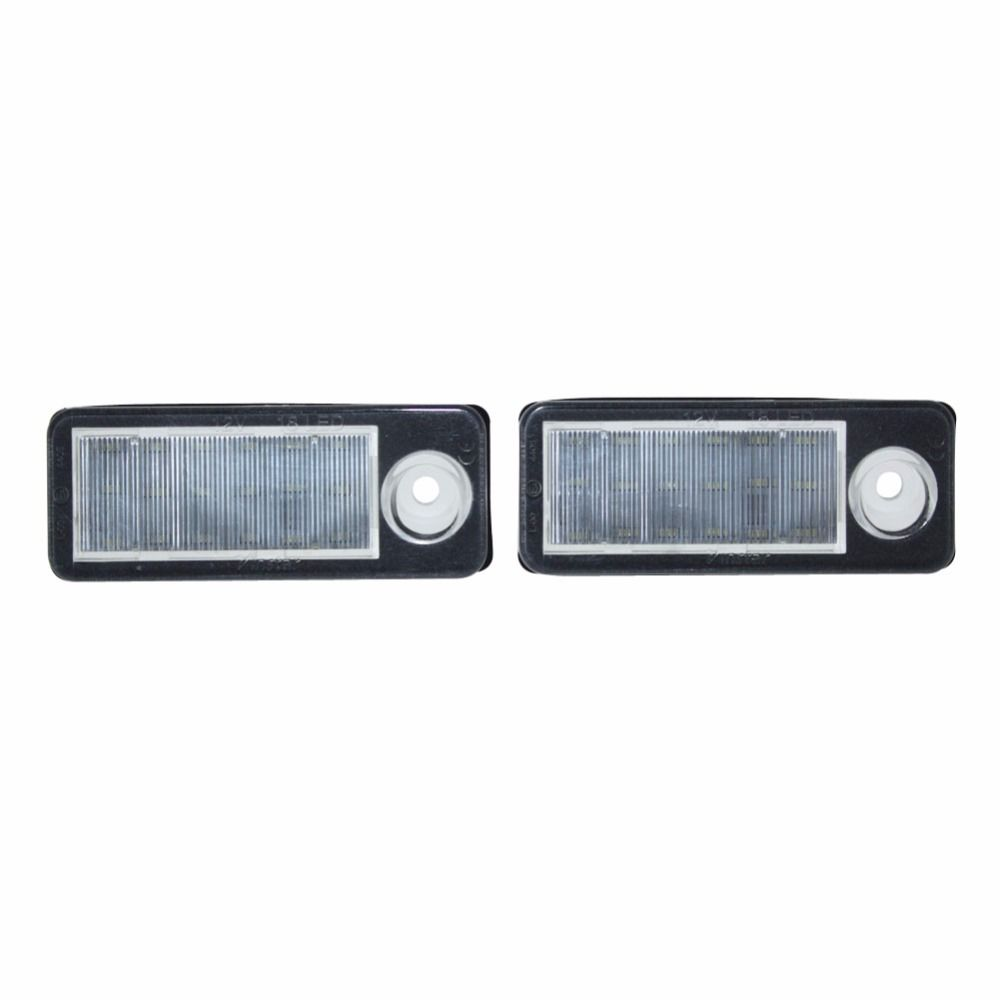 2x Canbus Error free 18SMD LED License Plate Light Car Accessories Number Plate Lamp for Audi A6 C6 B Avant Wagon 98-05