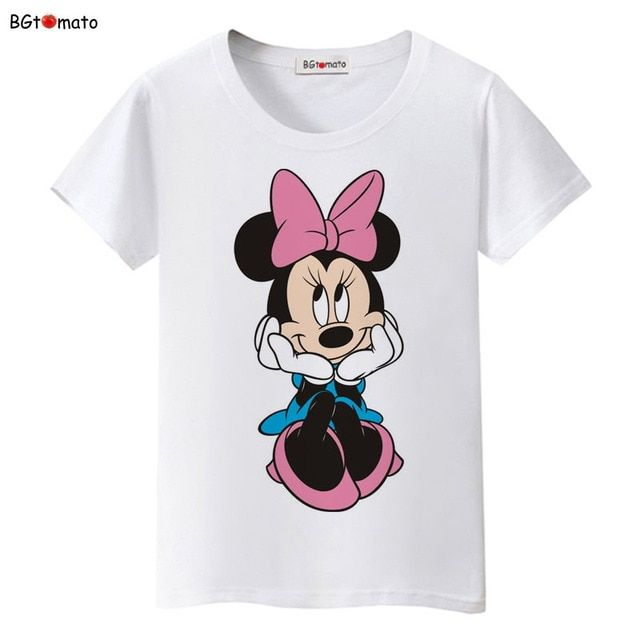 BGtomato New!! beautiful women Mickey T-shirt summer super cute cartoon shirts Brand tees good quality comfortable casual tops