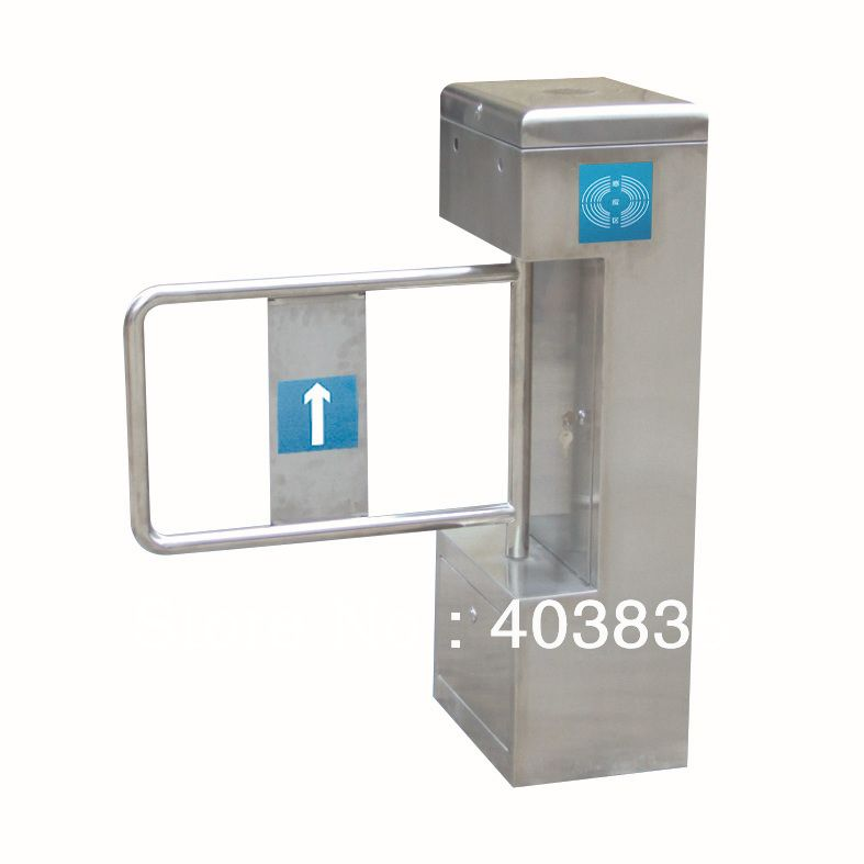 stainless steel swing gate/ Semi-Automatic Swing Barrier Turnstile