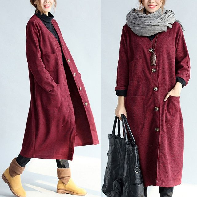 Plus Size Womens Winter Wool Coats 2016 New Fashion Mori Girl Winter Coat Women Long Windbreaker vintage Woolen Coat Female