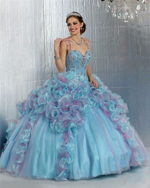 Coral Ball Gown Quinceanera Dresses 16 vestidos 2017 Crystal Dress Beading vestidos de 15 anos Ruched Prom Dress For Girls M731