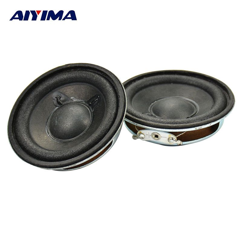 AIYIMA 2pcs Full range Audio Speaker New 2 inch 8 ohm 5 W Stereo Woofer Loudspeaker 2inch 8ohm 5W 52mm