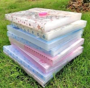 South Korea stationery cartoon color portable organ package transparent file packet 13 case wholesale!