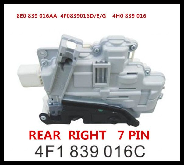 Rear Right Door Lock Latch Actuator For AUDI A3 A6 C6 Allroad A8 4F0 839 016 4F0839016  7PIN  8E0 839 016AA