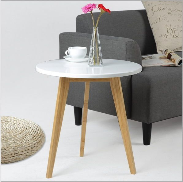 Modern Design Bamboo Round Side Table Minimalist Tea Table Coffee Table Living Room Sofa craft Table