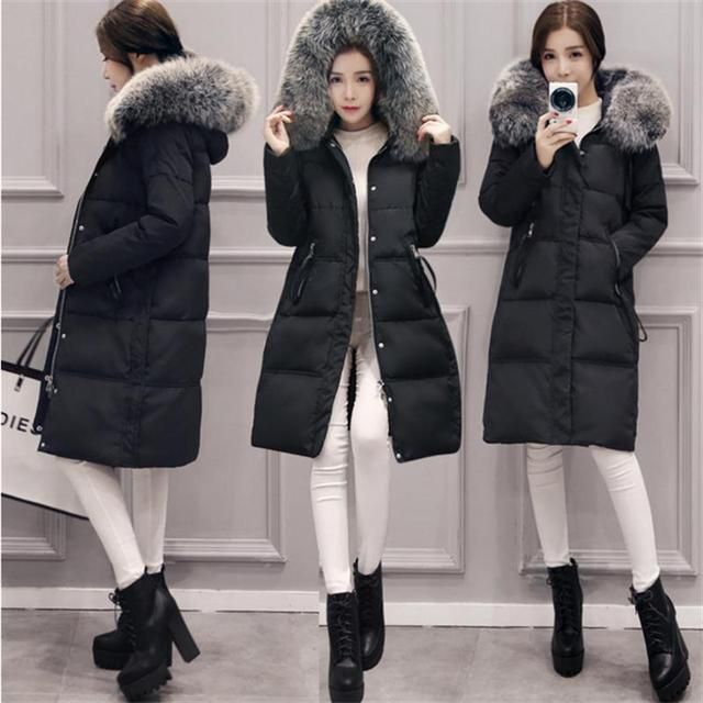 2016  New  Down Long Parkas Female Women 's Coat Thickening Cotton Winter Jacket Womens Outwear Parkas For Women Winter Outwear