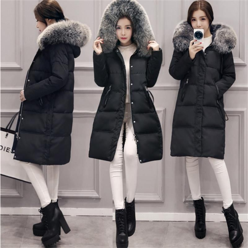 2018 Down Long Parkas Jacket Female Women's Coat Thickening Cotton Winter Jacket Womens Outwear Parkas For Women Winter Outwear
