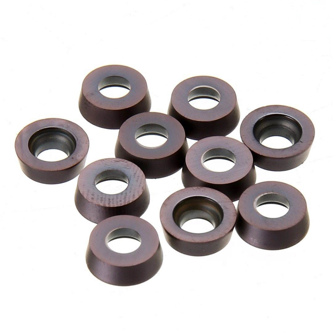 10pcs/lot RPMT1003MO VP15TF Carbide Inserts Round Inserts with Box For Lathe Turning Tool