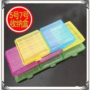 1pcs 4colour 4xAA batteries storage box 5xAAA 14500,10440 battery case AA batteries holder shell free shipping