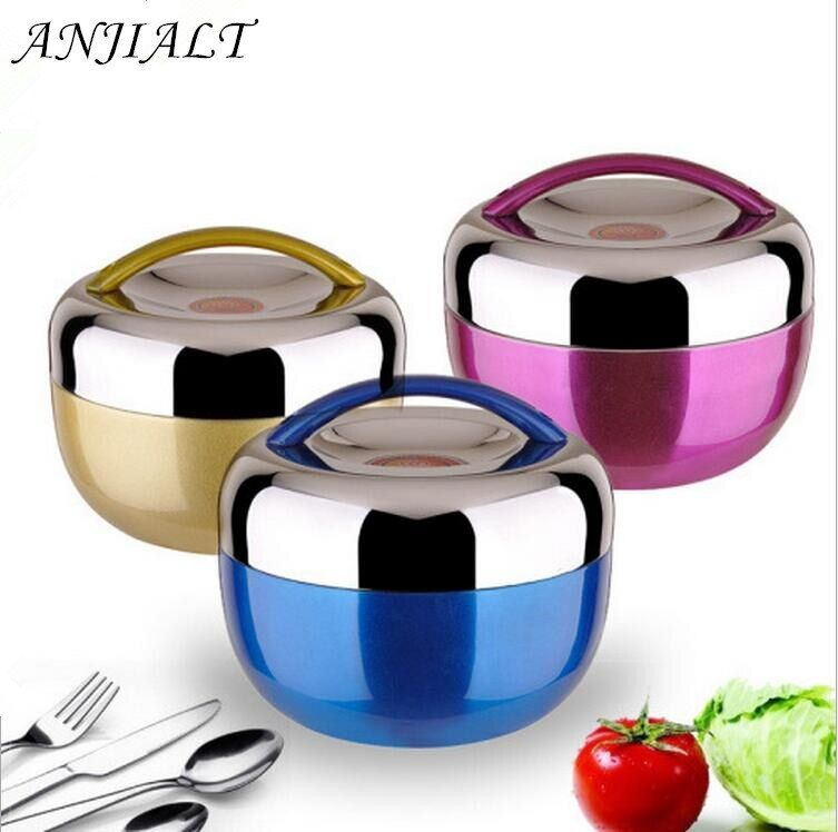 1.3L Apple Bento Box for Kids Stainless Steel Bento Box with Handle lunchbox for Food Container Picnic Bento Student Dinner Set