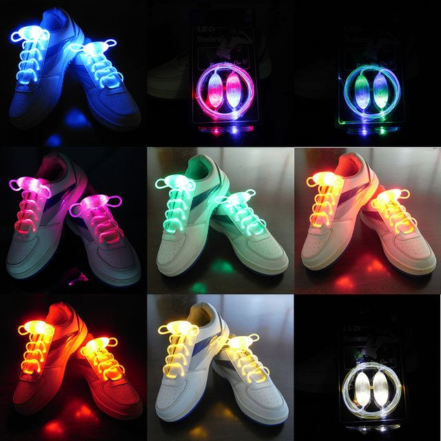 YGF Light up LED Luminous Shoelaces Flash Party Skating Glowing Shoe Laces for Boys Girls Cool Fashion Luminous Shoe Strings