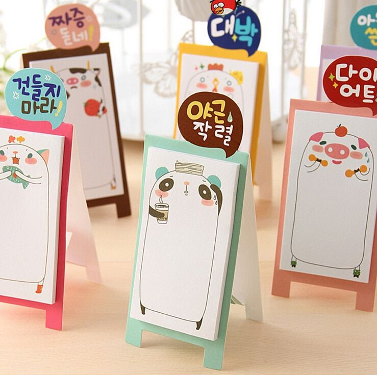 2015 Cartoon Memo Pad Cute Sticky Note  Sticker Office Stationery Planner Notepad Kawaii Notebook