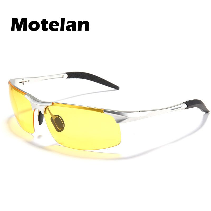2019 Authentic Polarized Glasses Mirror Night Vision Driving Glasses Men's Yellow lens Sunglasses Reduce Glare 3 Colors 9177