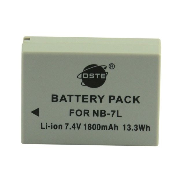 DSTE NB-7L NB7L Rechargeable Camera Battery for Canon G10 G11 G12 SX30 IS