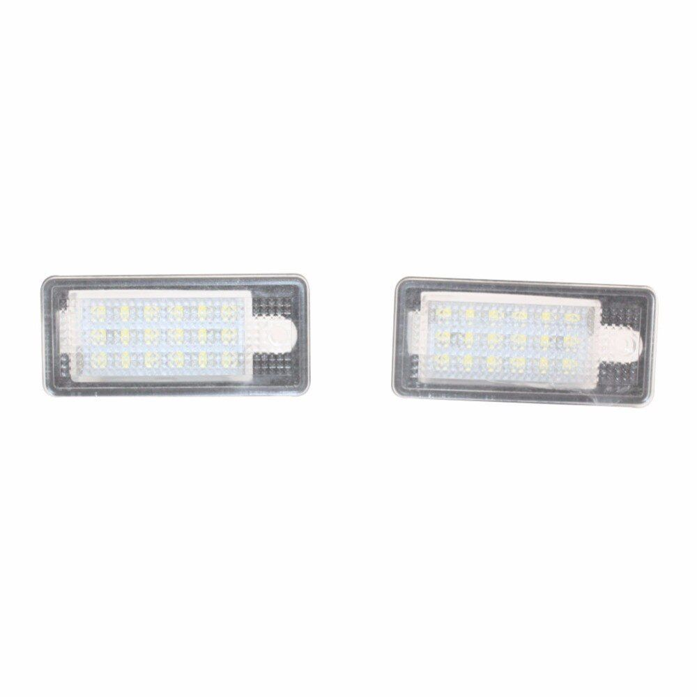 2pcs Error Free 18 LED License Number Plate Lamp Car Light Auto Bulbs for Audi A3 S3 A4 S4 8E RS4 A6 C6 RS6 A8 S8 Q7 2004-2009