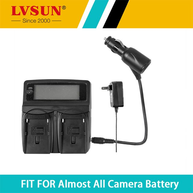 LVSUN DC&Car Universal Battery Charger for BLS-5 Battery For Olympus OM-D E-M10 PEN E-PL2 E-PL5 E-PL6 E-PM2 Stylus1 camera