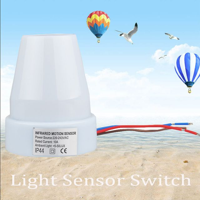 Adjustable Outdoor Use Light Sensor Automatic Light Sensor Switch 220V-240V/AC 10A Load Current