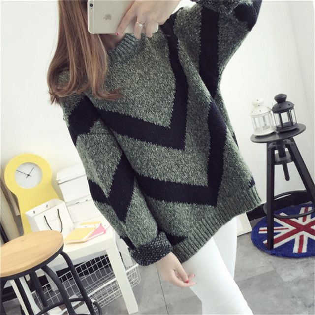 Women pullover Sweater All-Match New Women Sweaters Pullovers O-Neck Thick Mohair Sweater Female Fashion Warm C1953