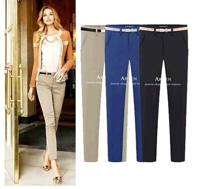 2017 Spring women's fashion leggings pants OL office Lady pencil  trousers XXXL large size Women's pants S M L XL XXL Wholesales