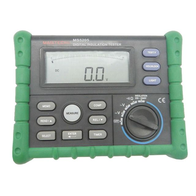 Mastech MS5205 Digital Insulation Resistance Meter Megameter 2500V Digital Insulation Tester High Precision