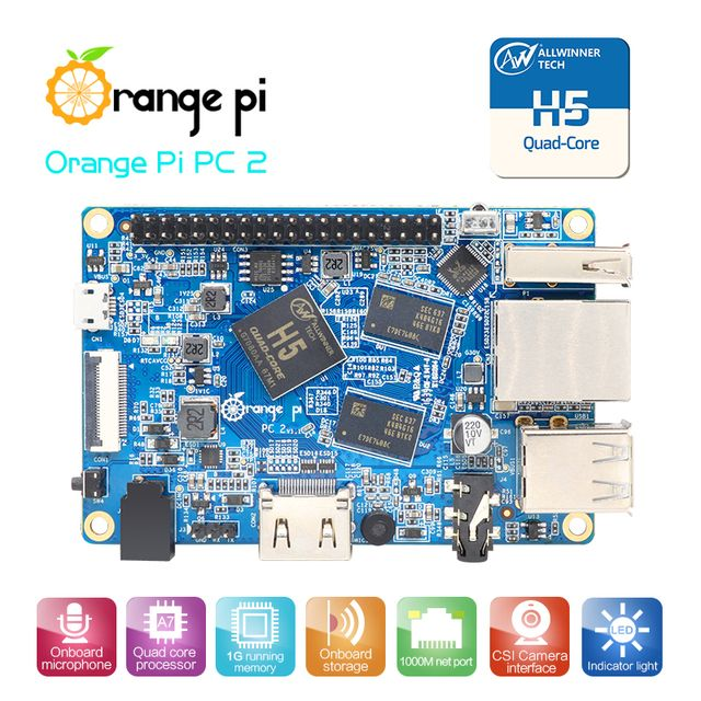 New! Orange Pi PC2 H5 64bit Support  the  Lubuntu linux  and android mini PC Wholesale is available