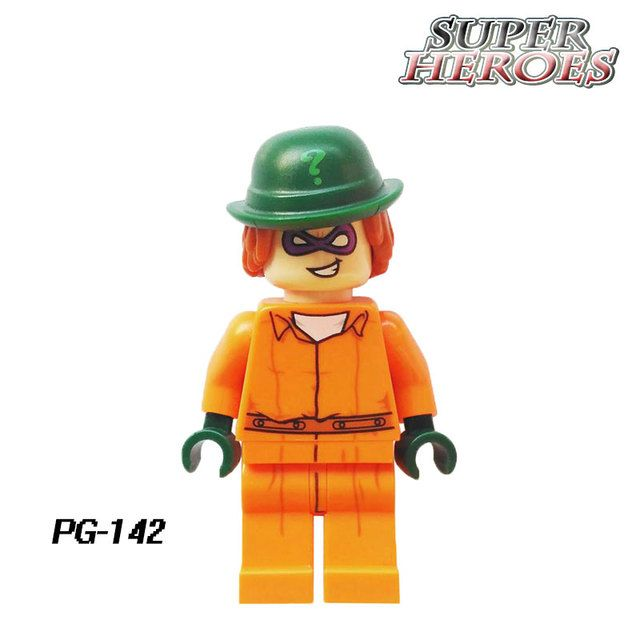 Educational Blocks PG142 Riddler Two-Face 2017 The Batman Movie Arkham Asylum 70912 Building Bricks Kids DIY Toys Hobbies PG8042
