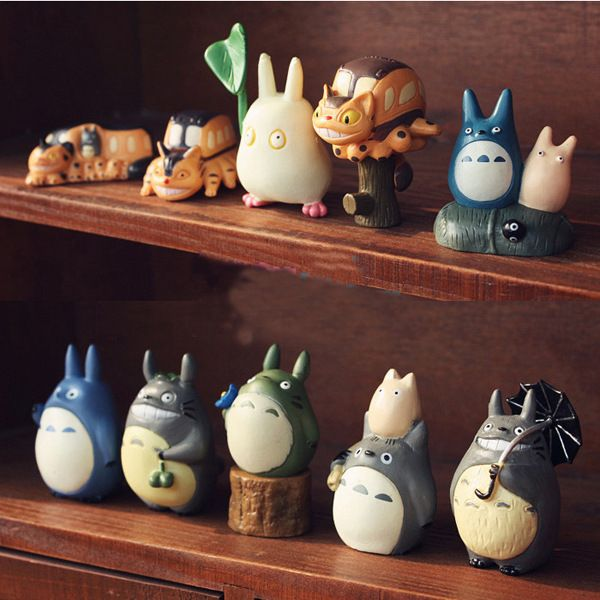 THINKEASY 10 PCS Totoro My Cute Little PVC Poni horse Action toy Figures Doll for Girl Birthday Gift Decoration Anime