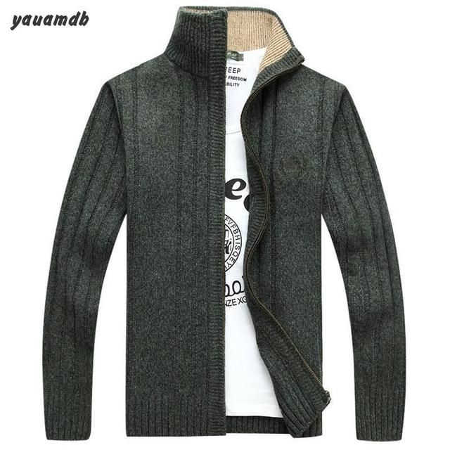 size M-3XL men sweater Cardigan 2016 winter/autumn male knitted casual jumper brand knitwear Knit long sleeve warm clothes y66