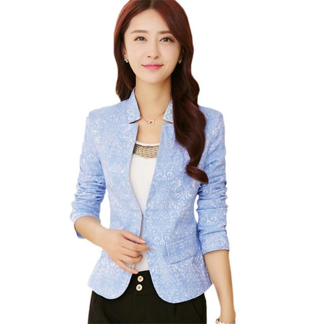 Elegant Floral Jacquard Blazer Women Brief Stand Collar Hidden Breasted Faux Pockets Short Suit Jacket Black White Basic Jackets