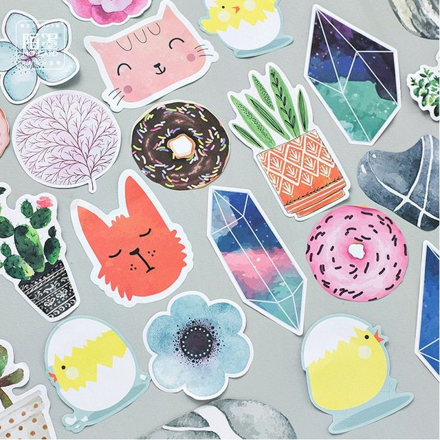 Assorted Designs Cute Letter Pad Cats Doughnut Paper Card and Envelope Set Kawaii Message Card Fashion Stationery Wholesale