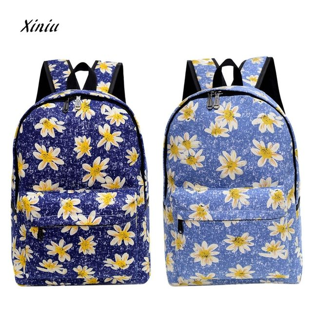 2018  women backpacks printing leaves backpack mochila mujer rucksack fashion canvas bags retro casual school bag travel bags