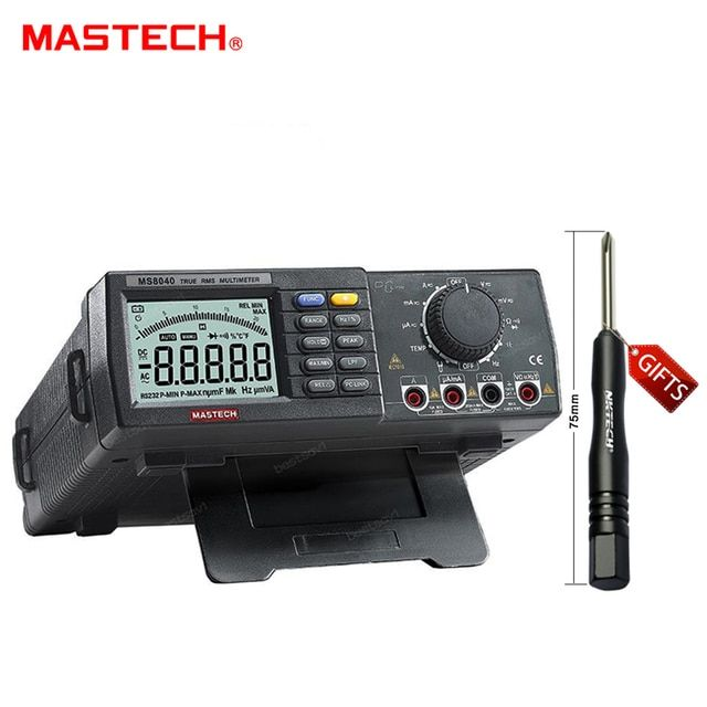 MASTECH MS8040 22000 Counts AC DC Voltage Current Auto range Bench multimeter True RMS filtering RS-232 Interface tester