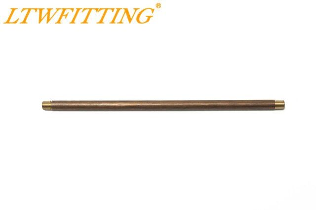 "LTWFITTING Brass Pipe 10"" Long Nipple Fittings 1/8 Male NPT Air Water"