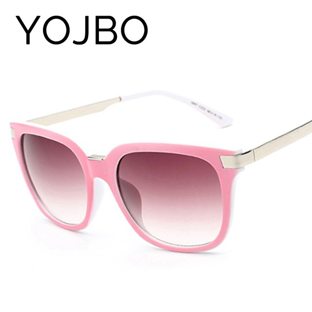 YOJBO Oversized Sunglasses Women Round 2017 Original Fashion Ladies Luxury Vintage Brand Designer Retro Sun Big Woman Glasses