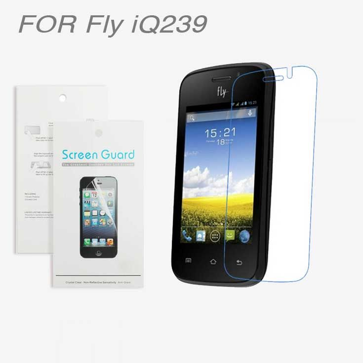 For Fly iQ239 ,3pcs/lot High Clear LCD Screen Protector Film Screen Protective Film Screen Guard For Fly iQ239