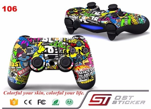 New Arrival Hoonigan Skin for PS4 Controller Decal Stickers for Playstation4 decals