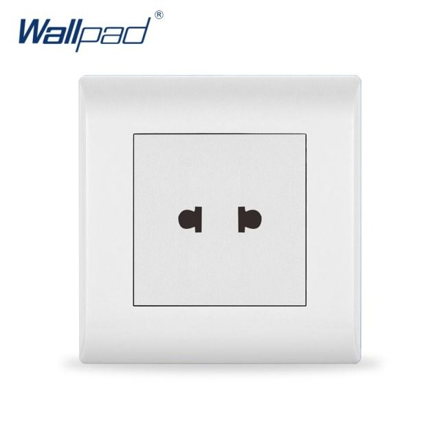 Hot Sale 2 Pin Socket Wallpad Luxury White Wall Light Switch 13A AC110~250V UK/EU Standard