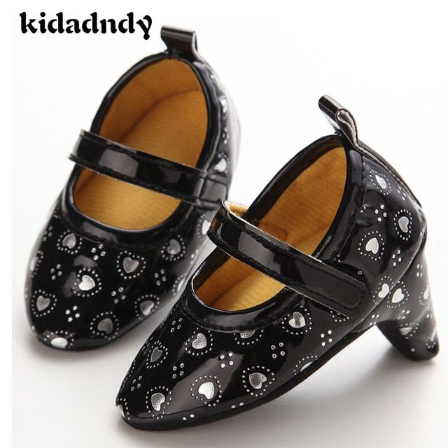 Baby Shoes High Heels 0 - 1 - Year - Old Female Baby Shoes Love Fashion Essential YMC016