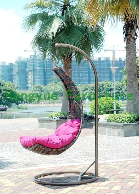 brown rattan hanging chair,outdoor wicker hanging chair