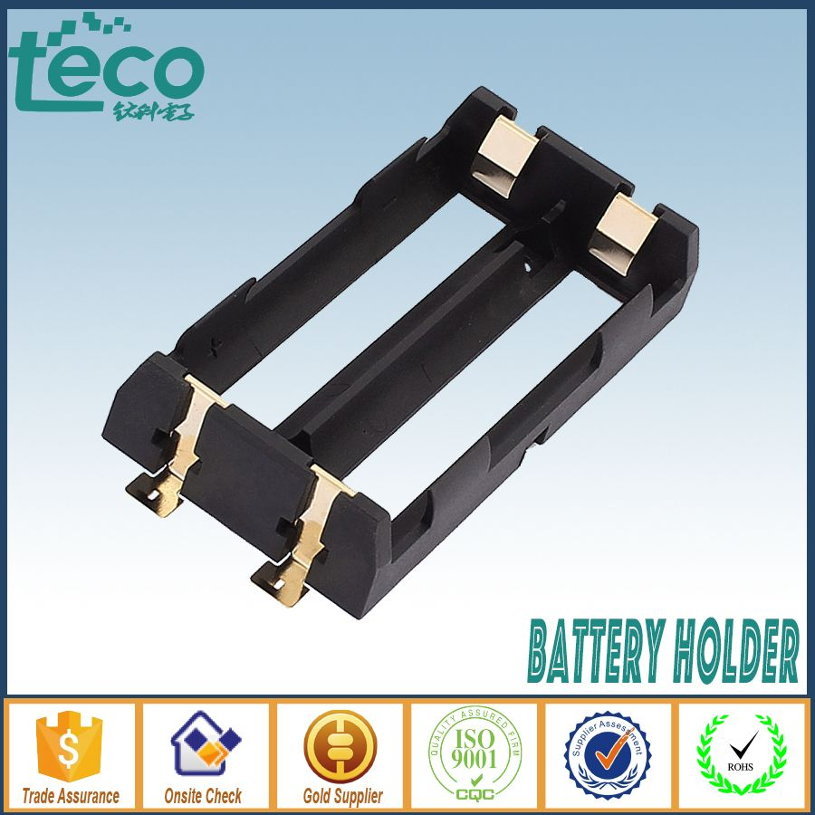 1Pcs/lot High Quality 2 X 18650 Battery Holder SMD With Bronze Pins Battery Storage Box TBH-18650-2C-SMT