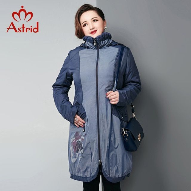 Astrid 2015 Cotton Parka Large Size Ladies Winter Jacket Womens Coats And Jackets Fashion Casual Dresses AM-5175