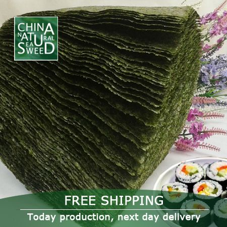 Free shipping  wholesale top quality Seaweed,nori for sushi,100pcs/pack,2016 top selling seaweed,hot sale for sushi store